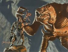 FRANK BRUNNER STAR WARS HAND PAINTED ORIGINAL RANCOR 1993 Topps TRADING CARDS!