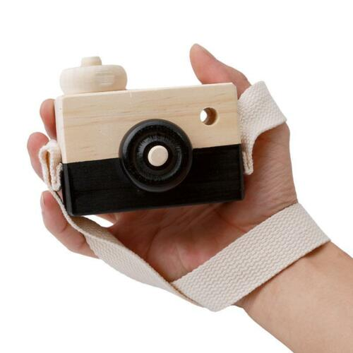 Wooden Camera Kids Toys Photography Pretend Play Children/'s Christmas Gift 8C