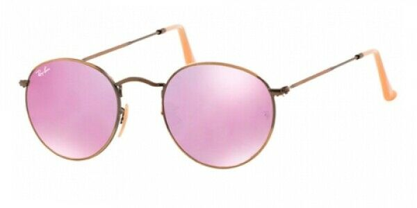 ae920e6ec4 Ray-Ban Rb3447 167 4k Bronze copper Frame Lilac Mirror 50mm Lens Sunglasses  for sale online