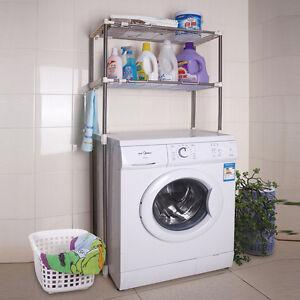 Incroyable Bathroom Rack Over Toilet Laundry Shelf Washing Machine Storage