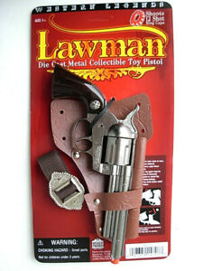 prop-SHERIFF-Lawman-die-cast-Pistol-Cowboy-Western-Toy-CAP-GUN-Colt-45-Spain-New