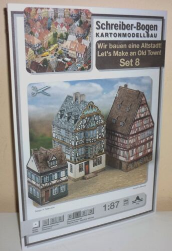 KARTONMODELLBAU ALTSTADT SET 8 SCHREIBER-BOGEN 774    Spur HO  Bastelbogen