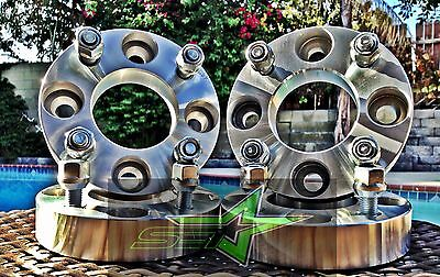 """4 WHEEL ADAPTERS 1"""" THICK   4X4.5 TO 4X100   4 LUG 12X1.5   OR 4X114.3 TO 4 X100"""