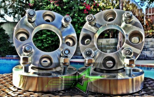 """4 WHEEL ADAPTERS 1/"""" THICK4X4.25 TO 4X4.254 LUG 12X1.5OR 4X108 TO 4X108"""