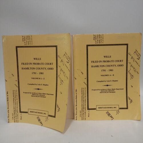 1 of 1 - Wills Filed in Probate Court Hamilton County Ohio 1792-1901 2 Volumes-Cincinna..