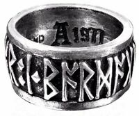 Men's Runeband Nordic Runes Pewter Ring Poetry In Battle R173 Alchemy Metal-wear