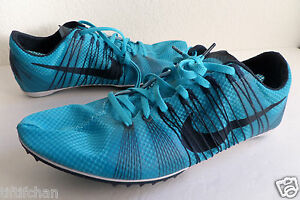 0bad42b5248 Nike Zoom Victory 2 Unisex Running Men Track Spikes Shoe Blue 555365 ...