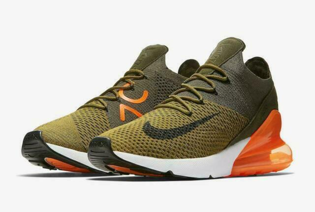 Size 12 - Nike Air Max 270 Flyknit Olive Flak 2018