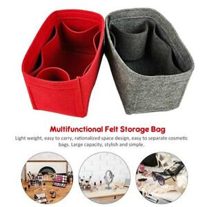 Purse-Insert-Makeup-Cosmetic-Handbag-Felt-Bag-Organizer-Storage-Multipockets-Bag