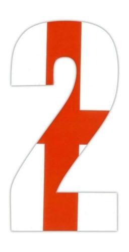 2PK Wheelie Bin Numbers 0-9 England English Flag Weatherproof Stickers Wheelybin