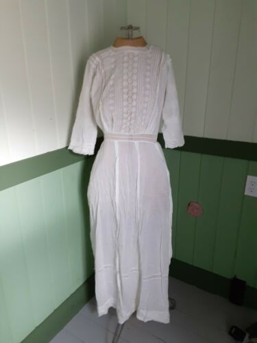 Early 1900s - Women's Underdress - White - Lace