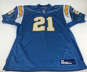 74506811 Details about Ladanian Tomlinson 21 San Diego Chargers Blue Size 52 Jersey  NFL Football Reebok