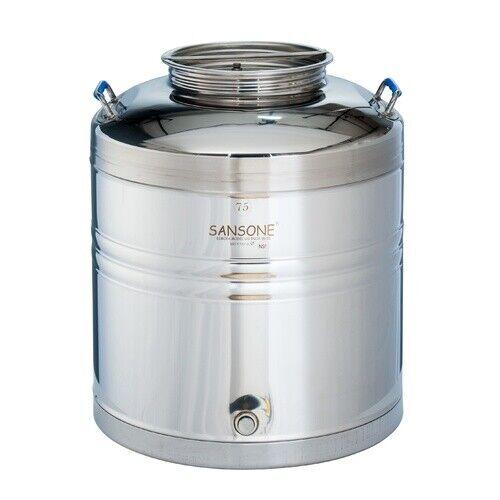 75 L Sansone Stainless Fusti Tank - Fermenter Beer Wine Moonshine 19.8 gal