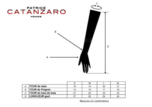 Mittens Long in Wetlook Lacquered of the French Brand Patrice Catanzaro