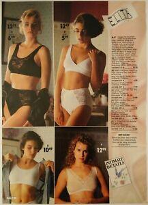1991-Vintage-PAPER-PRINT-AD-Elita-bustier-briefs-bra-women-lingerie-underwear