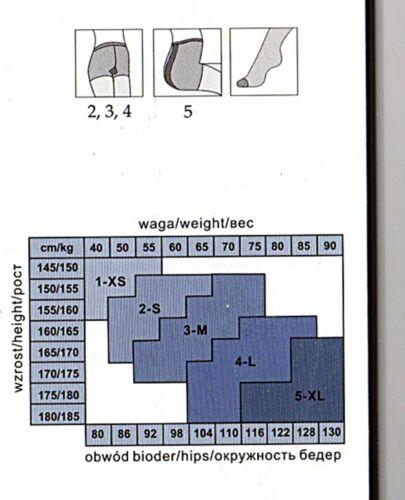 RELAX ANTI KRAPMFADERN ANTI-CELLULITE Strumpfhose schwarz 40 den Gr S-XL 36-48