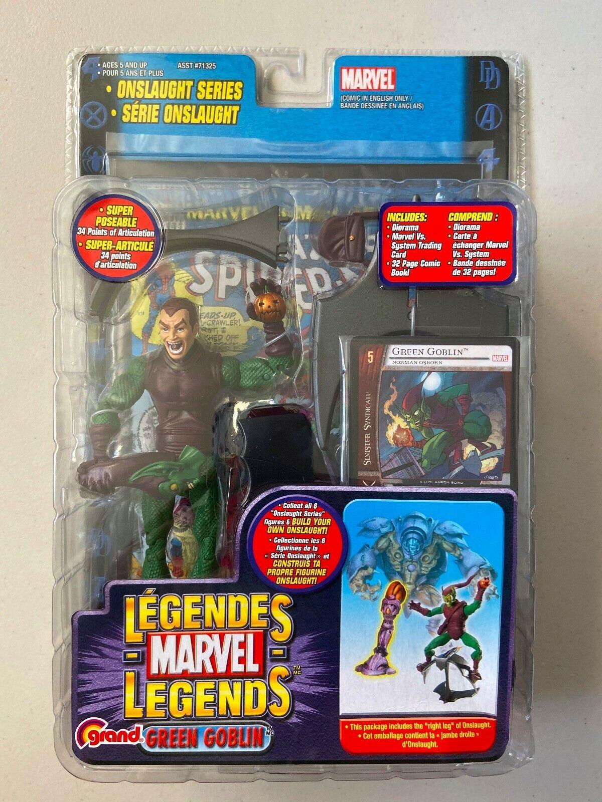 MARVEL Legends 6 azione cifra verde Goblin UNMASKED VARIANTE Onslaught SERIE