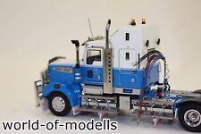 TWH Kenworth T908 mit Drake 2+4achs Tieflader Tenkate blau weiß 1:50 NEU mit OVP