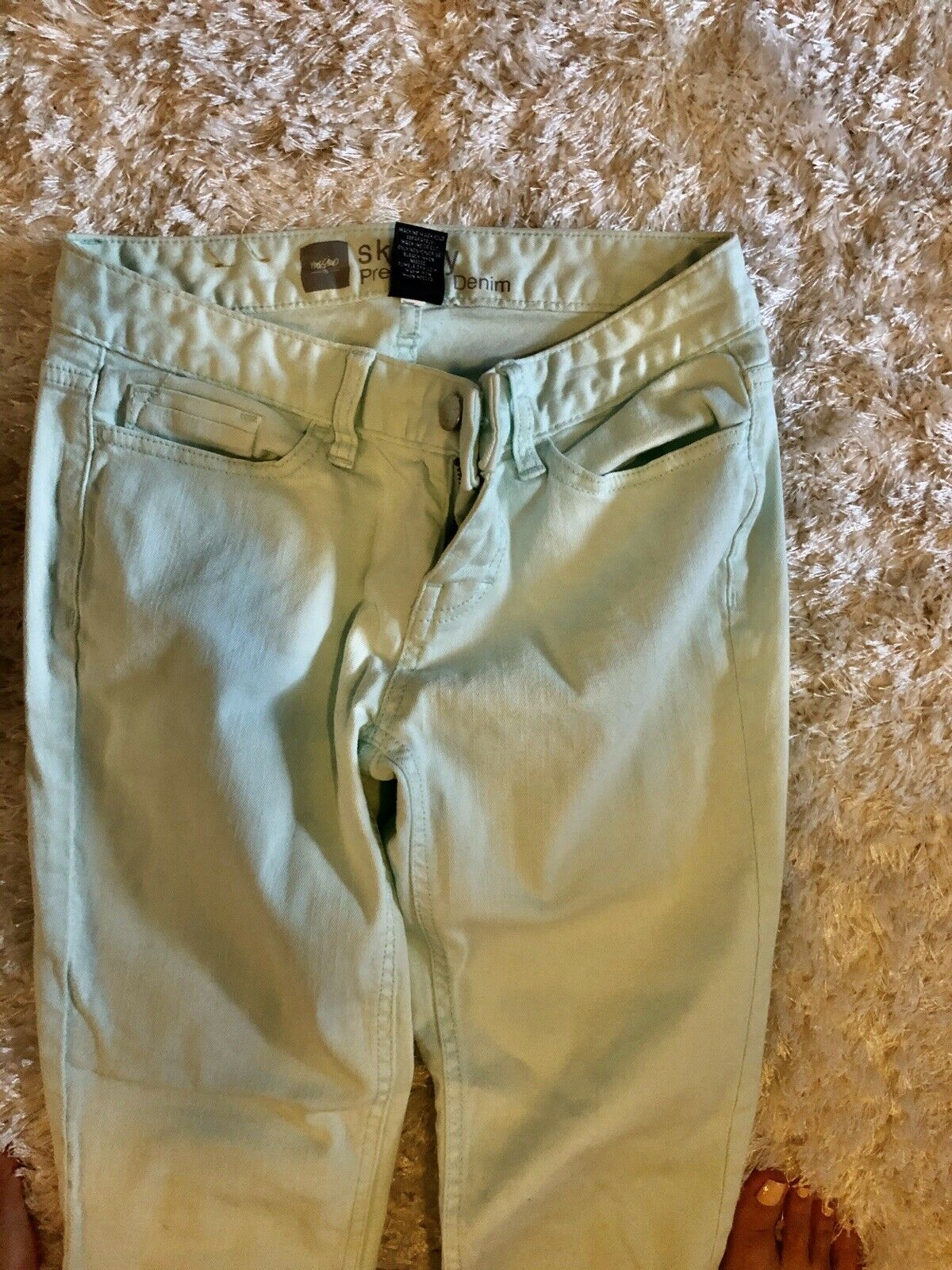 skinny jeans size 2 Mint Green - image 2