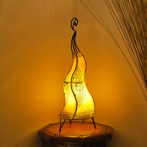 Lampe-de-Henne-orientale-lampe-du-Maroc-lampe-en-cuir-Lampadaire-cheval-60-jaune