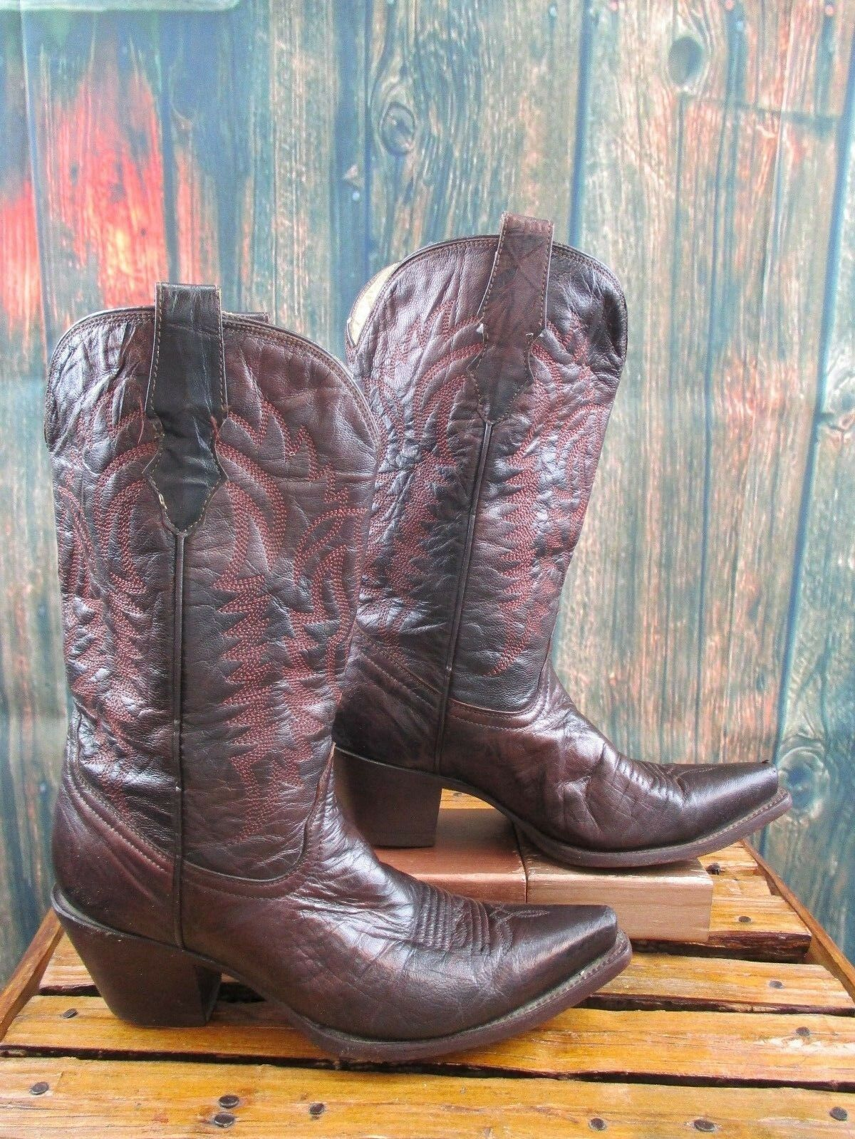 Ladies Corral Brown Pelle size: Distressed Cowboy Western Stivali size: Pelle 8 M f7f9ac