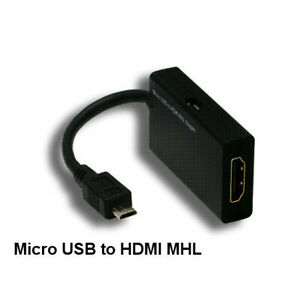 Kentek MHL HDMI Female to Micro USB Male Adapter Audio Video for Samsung LG Cell