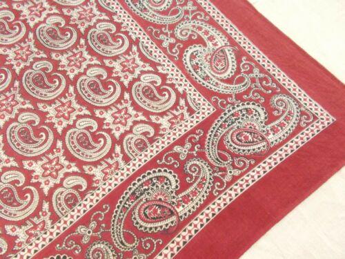 RARE VTG Antique USA TURKEY RED PAISLEY PRE 1941 C