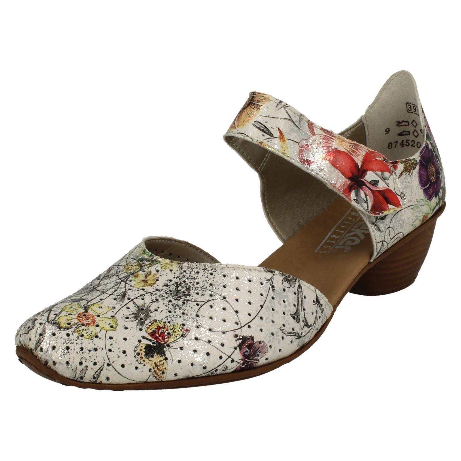 Gran descuento Descuento por tiempo limitado Rieker 43789 mujer flores Zapato