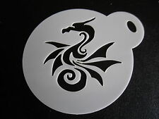 Laser cut small new dragon design cake, cookie, craft & face painting stencil