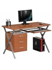 Porta computer scrivania con mobiletto cassettiera laterale ciliegio mod.foldy