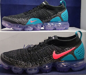 on sale 2acc8 75e31 Details about Nike Air VaporMax Flyknit 2 Black Dusty Cactus Hot Punch SZ  8.5 ( 942842-003 )