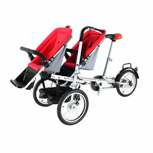 3in1 Baby Stroller Bike 3 Wheel 16/'/'  One Seat Carrier Folding Mother/'s Bicycle