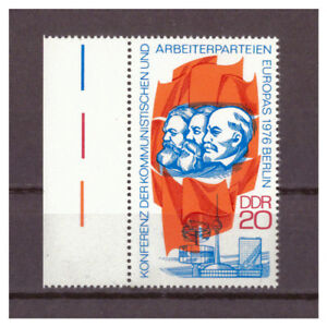 DDR-R-d-a-Conference-le-Arbeiterparteien-Minr-2146-Gauche-Bord-1976-MNH