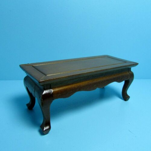 Dollhouse Miniature Coffee Table in Walnut ~ T6799