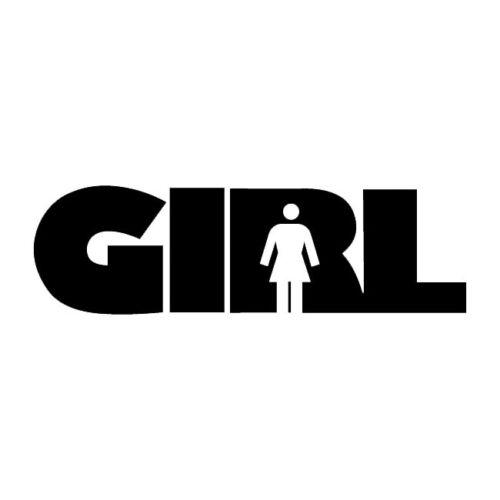 #468 GIRL SKATEBOARDING ANY SIZE OR COLOR CUSTOM CUT VINYL DECAL STICKER