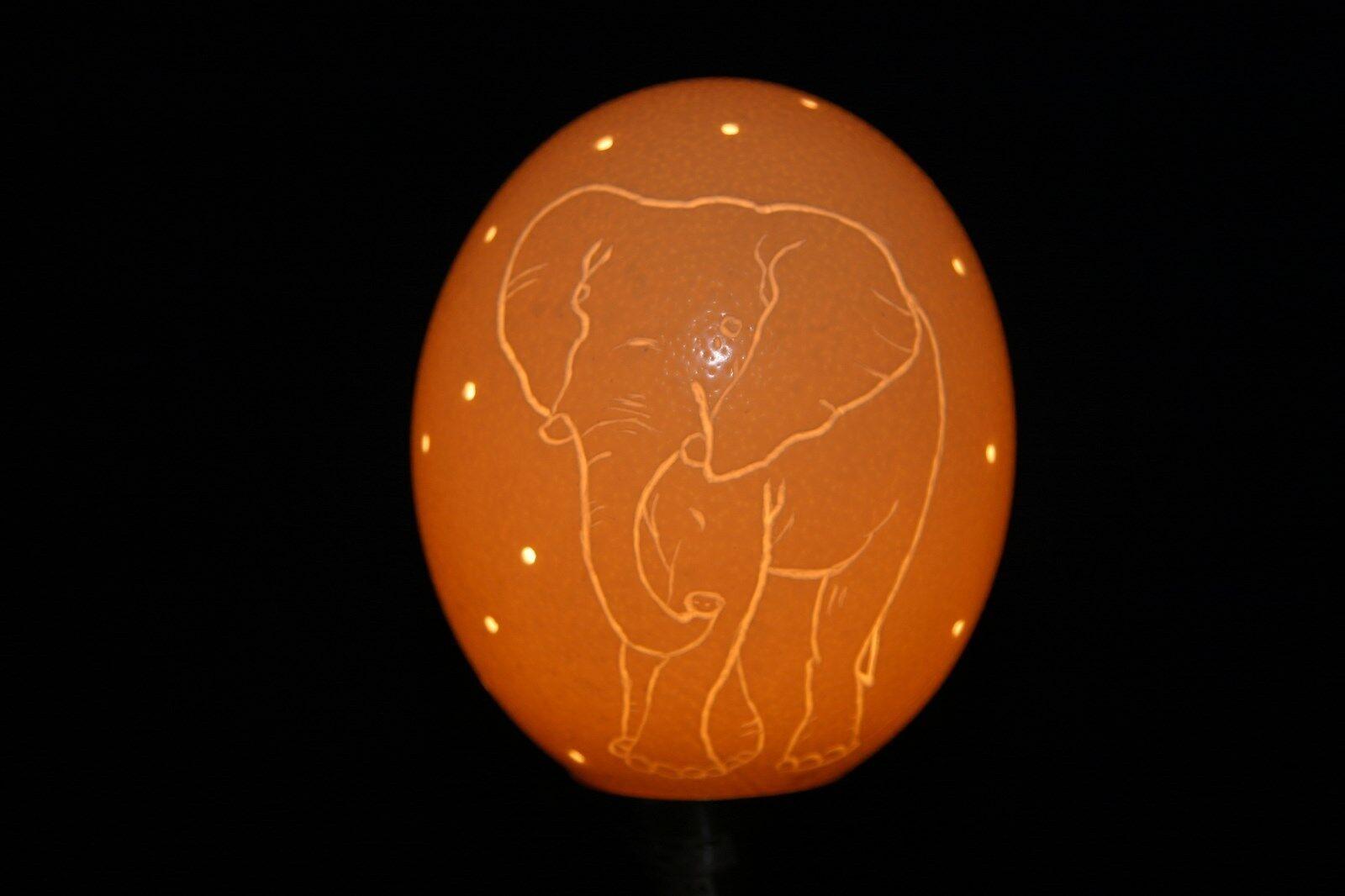 Straußeneilampe Nachtlicht  Elefant