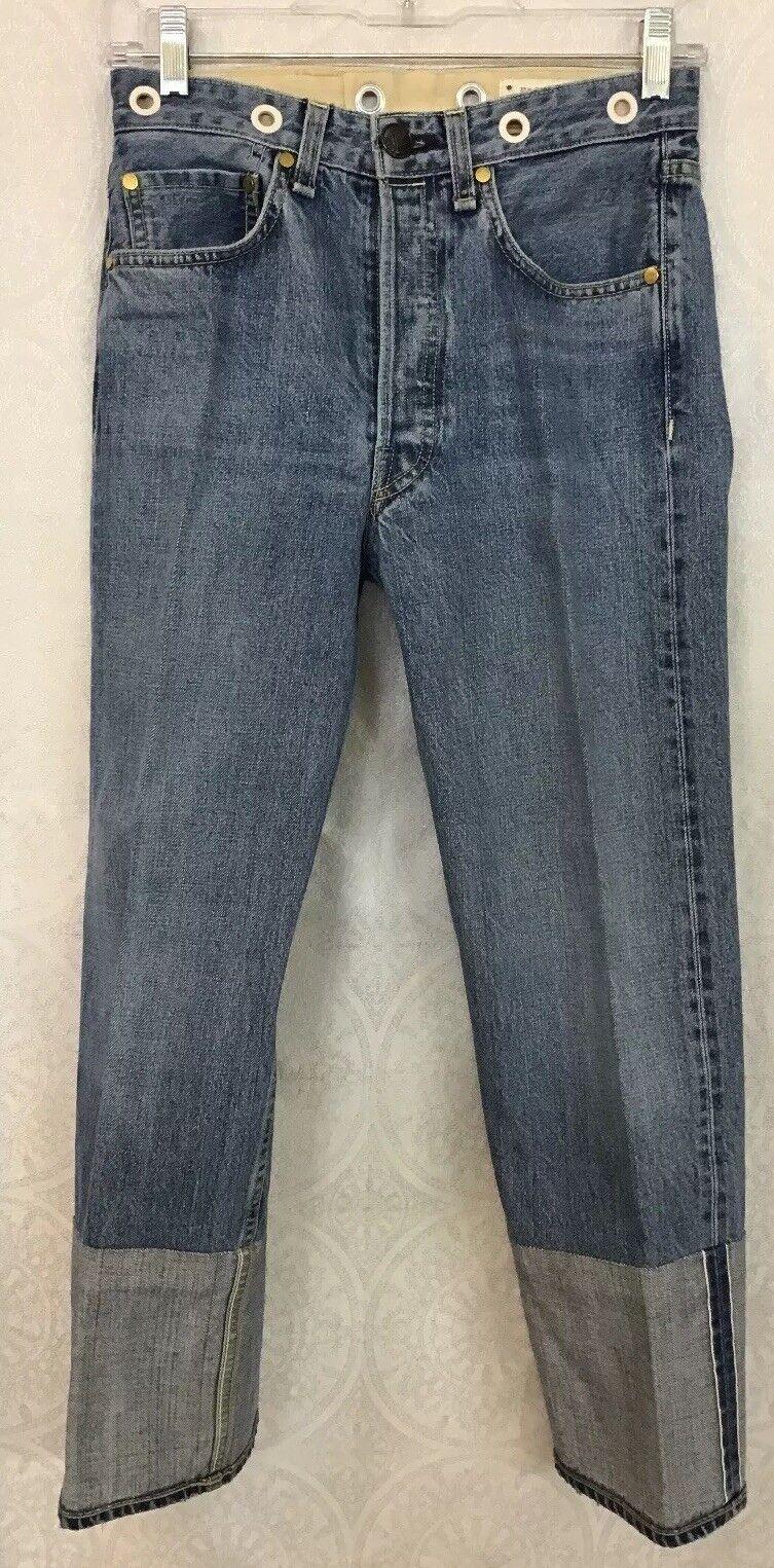Rag And Bone Jean Rbw16 Hi Rise Crop Calf Hair Patch Size 24