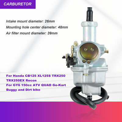 TCMT Replacement Carb Fuel System Carburetor For HONDA CB125 XL125S TRX250 TRX 250EX Recon 125cc