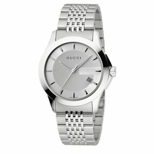 1285dbfbea1 Gucci G Timeless Mens Stainless Steel Bracelet Watch YA126401 for ...