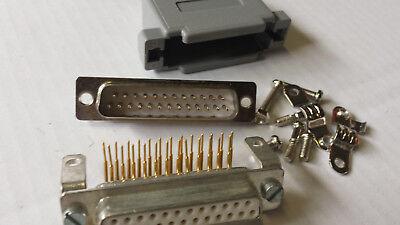 Avere Una Mente Inquisitrice 2 Paia Sub D Connettori 25 Pin Spina + Giunto Lötbar Installazione O Cavo-mostra Il Titolo Originale Stile (In) Alla Moda;