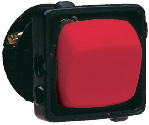 10A Or 15A HPM ROCKER SWITCH MECHANISM 1-Pole 240V Vertical Clip On RED
