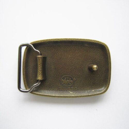 Vintage Bronze Plated Hammer Forged Rectangle Metal Fashion Belt Buckle