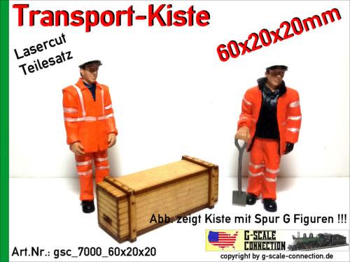 LGB PIKO G Spur G Lasercut 2x Transport Kiste 60x20x20mm aus Holz für z.B