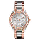 Bulova Women's 98N100 Swarovski Crystals Chronograph Quartz Two Tone Dress Watch
