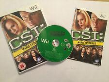 """Nintendo Wii Game CSI prove Concrete + scatola + istruzioni completo PAL"""""""