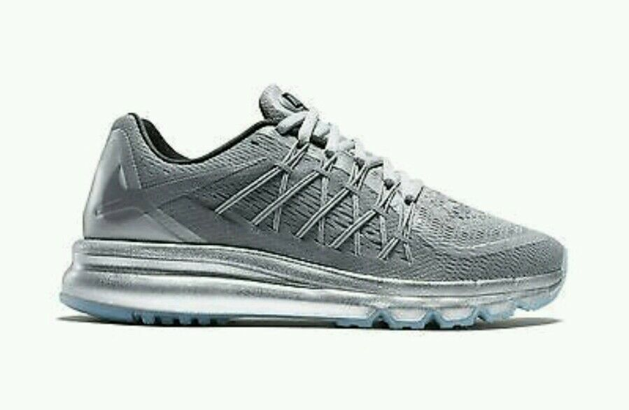 Nike Air Max 2015 Reflective Running shoes Women's US 5.5 Silver 709014-001 NEW
