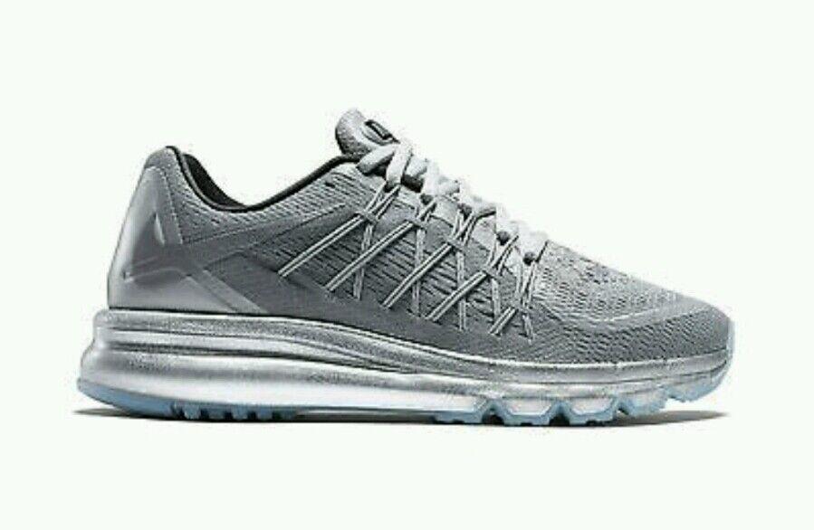 Nike air max 2015 le scarpe da corsa delle donne noi silver 709014-001 nuova