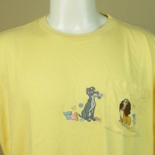 Disney Lady And The Tramp Embroidered Pocket T-Shi