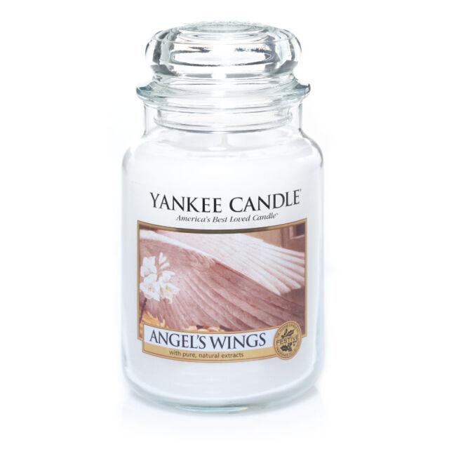 YANKEE CANDLE candela profumata giara grande Angel's Wings durata 150 ore