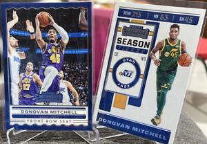 2019-20-Donovan-Mitchell-Panini-Contenders-2-Card-Lot-Season-Ticket-Front-Row